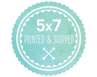 5x7 Printed & Shipped High-Quality Print of Any Design in the Shop