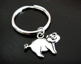 ONE Dollar Sale Closeout Pig Key Chain