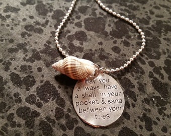 Beach Lovers Prayer Necklace