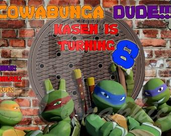 Ninja Turtle Invitation