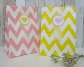 Personalized Zig Zag Standing Favor Bags with Gusset / Gusset Bags (12 bags per pack) - Red/Yellow/Green/Blue/Puple/Pink/Peach/Gray/Black