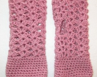 Hand Crocheted Women's Fingerless Gloves - AUSTRALIAN MADE