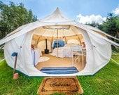 16ft Lotus Belle Deluxe Tent  yurt, burning man, glamping festival tent