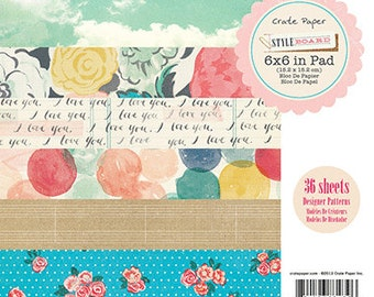 """American Crafts Crate Paper Style Board 6"""" X 6"""" Paper Pad"""