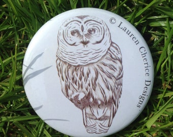 Mr Owl Pocket Mirror (58mm)