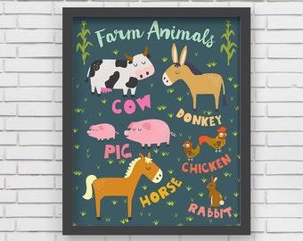 Home Decor- I love Farm Animals- 8x10, 11x14
