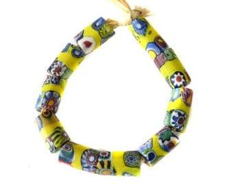 African old Antique Venetian Murrine Banded Millefiori trade beads
