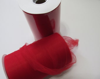 Red Tulle Fabric 100 Yards