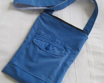Handmade Recycled Cotton Cross-Body Bag