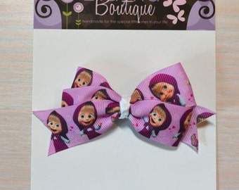 Boutique Style Hair Bow - Masha and the Bear 1