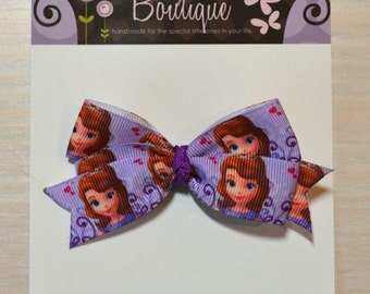 Boutique Style Hair Bow - Sofia the First