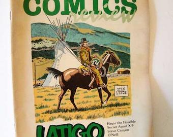 Comics Review, Comics Revue magazine, Latigo comic strip, comic book, 1984