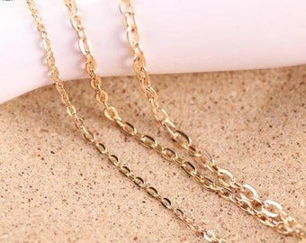 5 meters cable chain-gold  fine chain  oval-shaped O type chain 4x6mm
