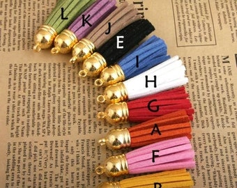 10pcs gold or bronze tassels - Mixed Colors of Beautiful tassels Charm pendant 55mm