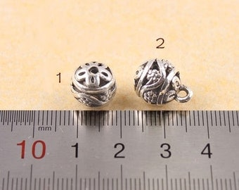 10 pcs   antiqued silver hollow beads  pendant 12mm  hollow ball beads
