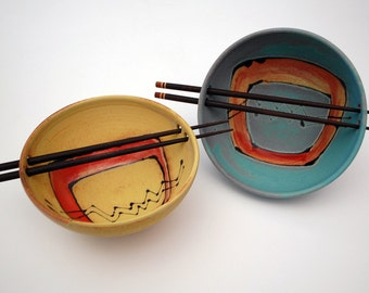 Bowl with chopstick
