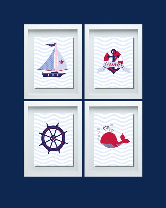 Nautical Nursery Wall Art Nautical Nursery Decor - cheap home decor for nautical nursery
