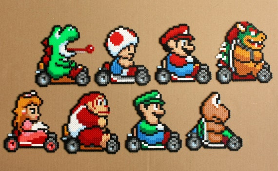 super mario kart perler hama bead sprites by strepiepixelcrafts. Black Bedroom Furniture Sets. Home Design Ideas