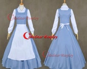 Beauty and the Beast Belle Blue Dress Made Cosplay Costume