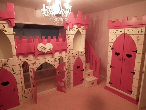 Princess Castle Bed Bunk Bed Girls Bed By Dreamcraftfurniture