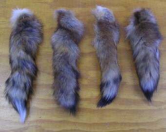 4 Red Fox Tails