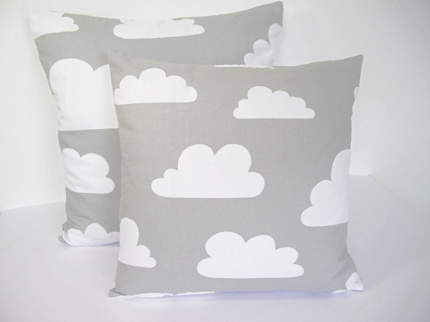 Farg form baby changing table mat grey clouds - Scandinavian Swedish Farg Form Fabric Kids Cushion Cover Grey Clouds