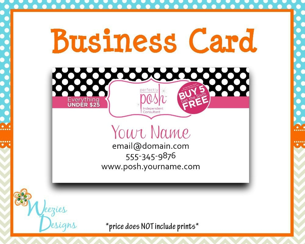 perfectly posh business card direct sales by weeziesdesigns. Black Bedroom Furniture Sets. Home Design Ideas
