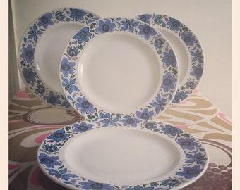 Reduced* English Ironstone Dinner Plates - Fashion Design