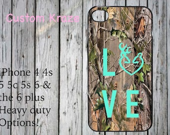 iPhone 4 4s 5 5c 5s 6 plus case country girl deer hunting cute love camo camouflage mint green Browning made in USA