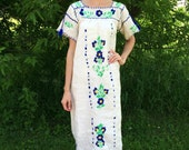 Hippie Maxi Embroidered Dress