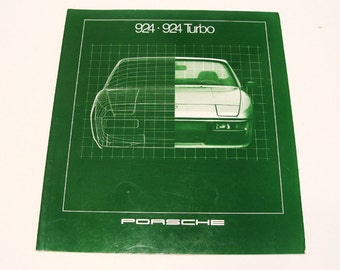 1981 Porsche Showroom Sales Brochure 924 and 924 Turbo