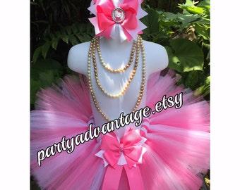 Handmade tutu, pink and white tutu, girl tutu,  princess tutu skirt, birthday tutu, wedding tutu, pageant, photo shoot