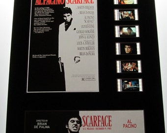 scarface 1983 al pacino brian de palma frame ready matted movie 35mm film cells standard series 8x10