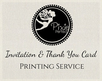 Professionally Printed Birthday Invites and/or Thank You notes with Envelopes