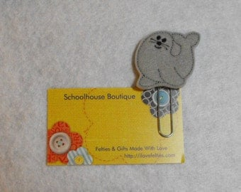 Sea Lion felt Paperclip bookmark, felt bookmark, paperclip bookmark, feltie paperclip, christmas gift, teacher gift