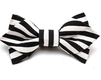 Striped & Pointed Bow Tie