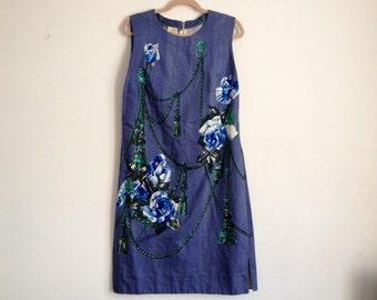 Vintage Floral Day Dress/ Floral Dress/ Floral Print Dress/ 60's Dress/ 60's Day Dress/ Vintage Dress/ Day Dress/ 60's/ Summer Dress