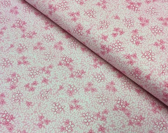 Patchwork Quilting Fabric Timeless Treasures Paper Dolls Small Print Toner C8348 Pink