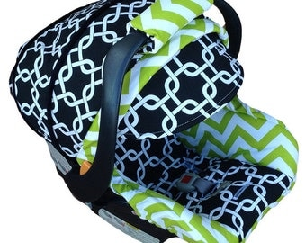NollieCovers Infant Car Seat Replacement Cover Silver Package (Baby Weston)