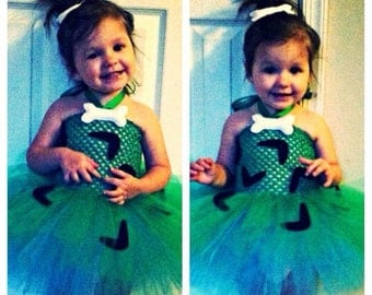 Pebbles tutu dress costume, newborn to 4yo