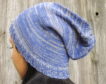 Ready to ship! blue light purple   knitting  hat Summer Hat  multicolored slouchy hat blue beanie hat Womens Hat slouchy hat sun hat