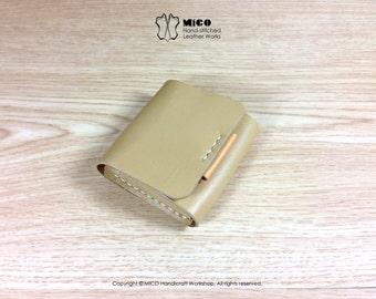 MICO Coin purse / Coin case / Coin pouch Brown color