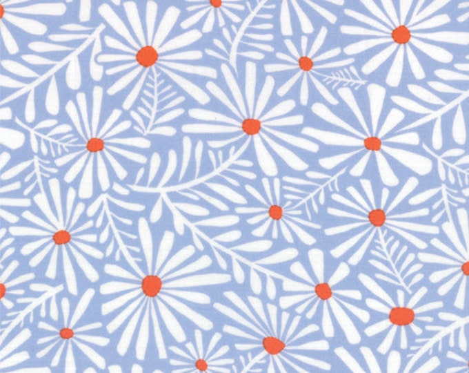 Half Yard Daydreams - Wonder in Pale Ink Blue - Cotton Quilt Fabric - designed by Kate Spain for Moda Fabrics - 27173-15 (W2794)