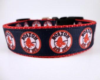 Boston Red Sox Dog Collar Adjustable