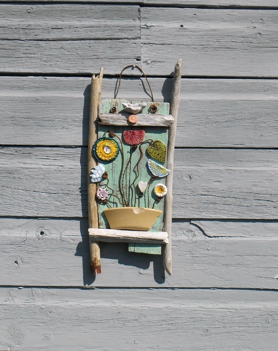 Driftwood art driftwood decor garden art flower arrangement Driftwood sculptures for garden