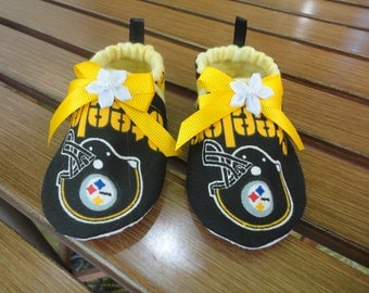 Pittsburg Steelers Booties Baby Girl NFL Football  Booties Baby Girl  Steelers Crib Shoe Tailgating Bootie For Babies  Free Shipping U.S.