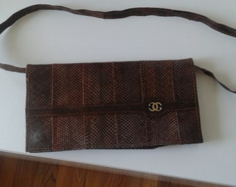 Genuine snakeskin clutch vintage