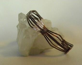Copper Wire Wrapped Bracelet--OOAK