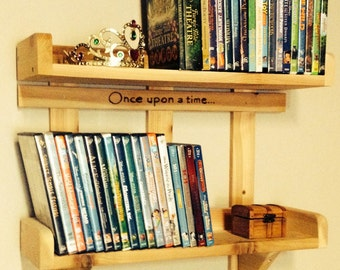 Personalized Handmade Cedar DVD Shelf