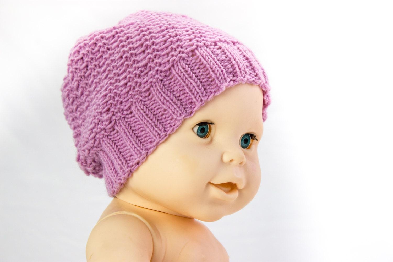 Knitting Pattern Baby Slouch Hat : KNITTING PATTERN Sophisticated Slouchy Hat Baby Slouch Hat